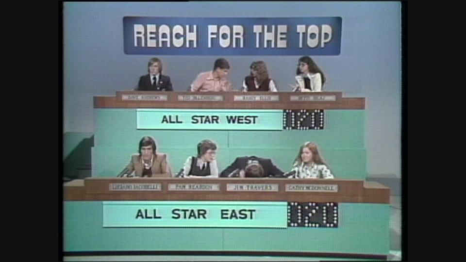 Two all-star teams compete in Reach For The Top in the late 1970s.