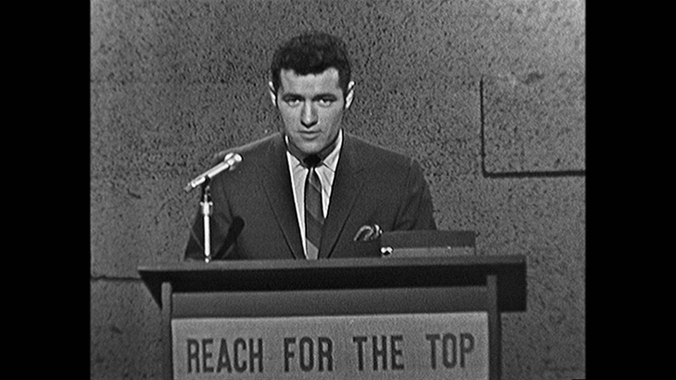 Jeopardy icon Alex Trebek hosting Reach For The Top in the 1960s.