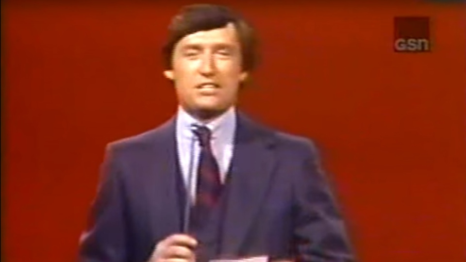 Jim Perry is seen hosting Card Sharks, an American game show. Perry died on Friday at the age of 82. (YouTube)