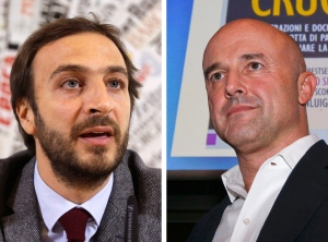 This combo of file photos shows journalists Emiliano Fittipaldi, left, and Gianluigi Nuzzi. (AP / Gregorio Borgia, Luca Bruno)