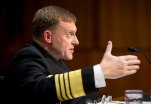 Director of the National Security Agency (NSA) Adm. Michael Rogers testifies on Capitol Hill on Sept. 24, 2015, before the Senate Intelligence Committee. (Pablo Martinez Monsivais / AP Photo)
