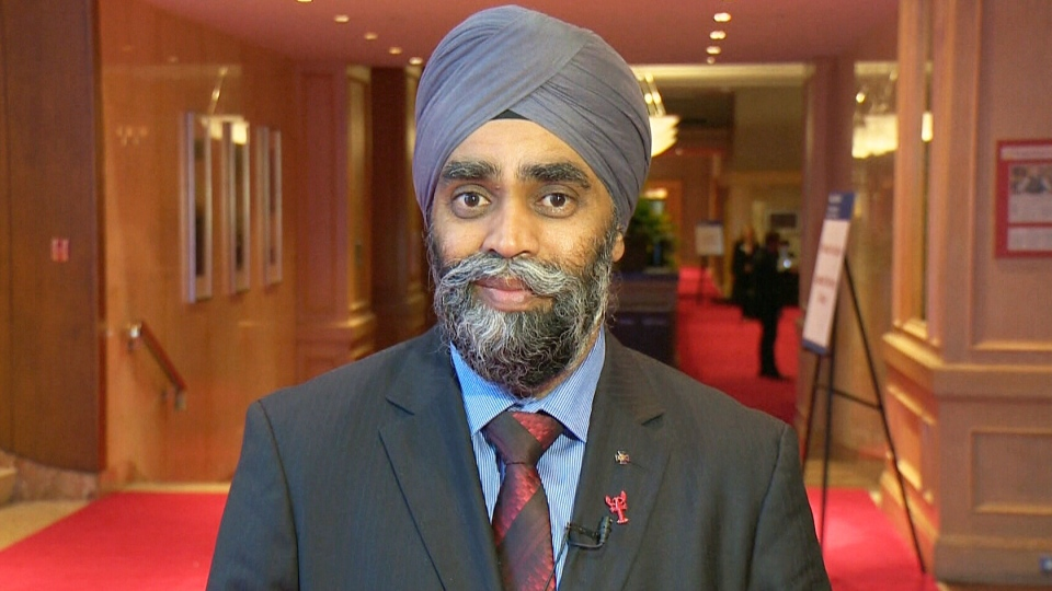 Defence Minister Harjit Sajjan speaks with CTV's Question Period on Nov. 22, 2015.