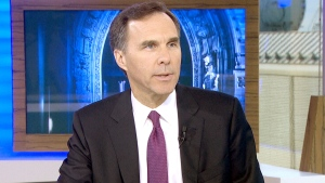 Finance Minister Bill Morneau speaks to CTV's Question Period on Nov. 22, 2015.
