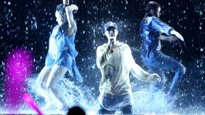 Justin Bieber performs at the American Music Awards at the Microsoft Theater in Los Angeles on Sunday, Nov. 22, 2015. (Matt Sayles / Invision)