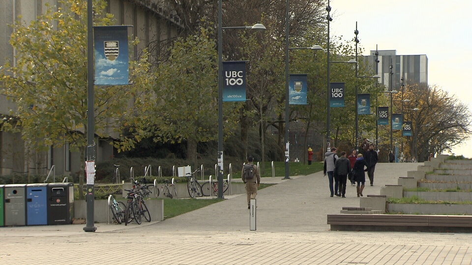 The University of British Columbia campus is seen in this file photo.