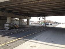 Overpass struck