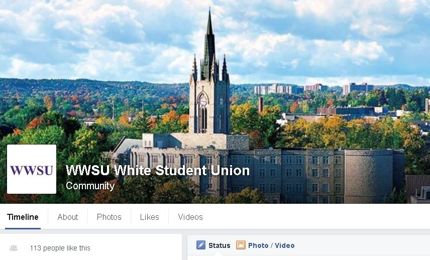 Western University's name and logo has been removed from the 'Western White Student Union' Facebook page as of Monday, Nov. 23, 2015.