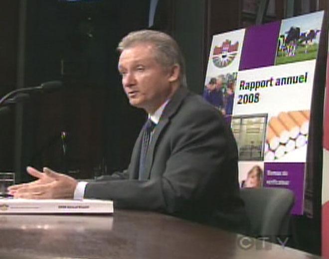 Ontario Auditor General Jim McCarter presents his 2008 annual report.