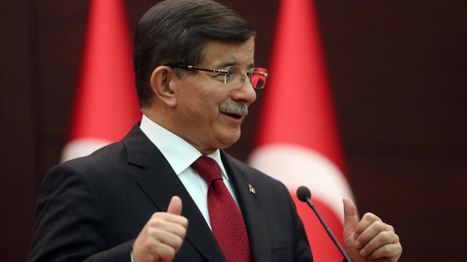 Turkish Prime Minister Ahmet Davutoglu in Ankara, Turkey, on Nov. 24, 2015. (Burhan Ozbilici / AP)