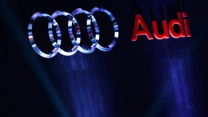 Audi logo (Sajjad Hussain / AFP)