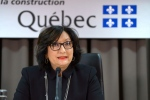 Superior Court Justice France Charbonneau speaks at a press conference after the findings of her report that looked into corruption in Quebec's construction industry were released in Montreal, Tuesday, Nov. 24, 2015. (THE CANADIAN PRESS/Paul Chiasson)