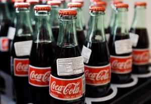 Bbottles of Coca-Cola are on display at a Haverhill, Mass., supermarket on July 9, 2015. (AP / Elise Amendola)