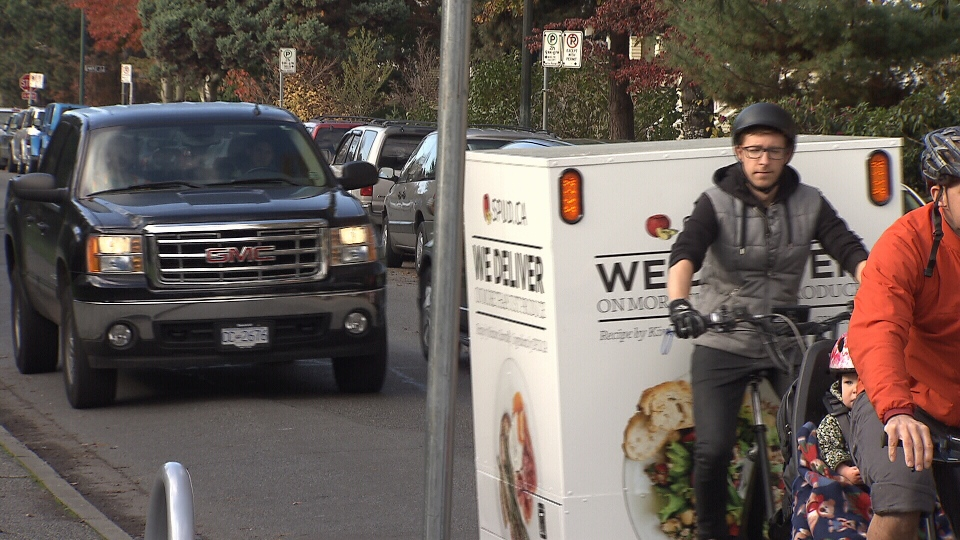 Spud.ca delivering groceries by bike