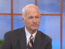 NDP Leader Jack Layton speaks on CTV's Canada AM from Toronto, Monday, Dec. 8, 2008.