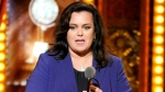 Rosie O'Donnell accepts the Isabelle Stevenson Award on stage at the 68th annual Tony Awards in New York on June 8, 2014. (Evan Agostini / Invision)