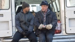"This photo provided by Warner Bros. Pictures shows Michael B. Jordan, left, as Adonis Johnson and Sylvester Stallone as Rocky Balboa in Metro-Goldwyn-Mayer Pictures', Warner Bros. Pictures' and New Line Cinema's drama ""Creed,"" a Warner Bros. Pictures release. (Barry Wetcher/Warner Bros. Pictures via AP)"