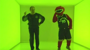 Norm Kelly shows off his Drake dance moves