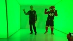 Norm Kelly and The Raptor, the Toronto Raptors mascot, dance to 'Hotline Bling' in Toronto on Wednesday, Nov. 25, 2015.