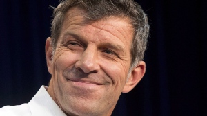 Montreal Canadiens general manager Marc Bergevin speaks to the media at a press conference Thursday, July 2, 2015 in Brossard, Que. (THE CANADIAN PRESS/Ryan Remiorz)