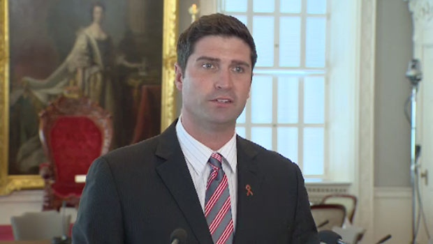 Transportation Minister Geoff MacLellan speaks to the media on Wednesday, Nov. 25, 2015.