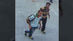 The RCMP are trying to identify these two males, who were seen near the John Street bridge in Toronto, on Aug. 31, 2015.