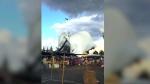Strong winds tear apart California flea market: