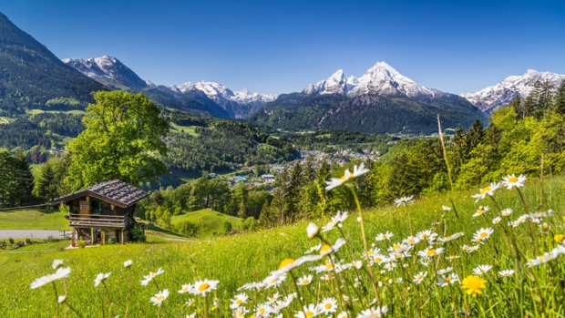 Scenic image of the Alps