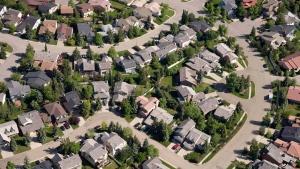Aerial views of housing in Calgary on June, 22, 2013. (Jonathan Hayward/The Canadian Press)