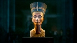 A 3,300-year-old bust of Queen Nefertiti is displayed at the New Museum in Berlin, Germany on Sept. 10, 2014. (AP / Markus Schreiber)