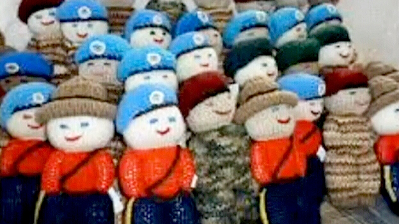 Dolls knit for the Izzy Project