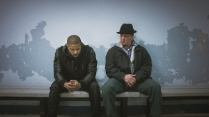 Michael B. Jordan, left, as Adonis Johnson and Sylvester Stallone as Rocky Balboa in Metro-Goldwyn-Mayer Pictures', Warner Bros. Pictures' and New Line Cinema's drama 'Creed.' (Warner Bros. Pictures)