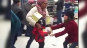 Package taken from child's hands on Black Friday