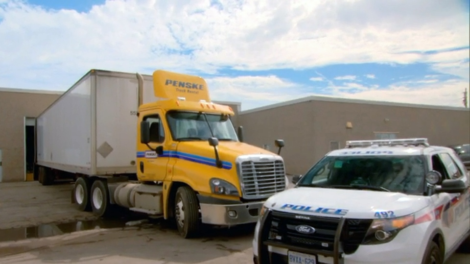 Unsecured truck storage yards are tempting targets for thieves (W5)