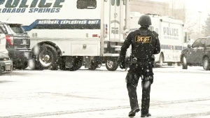 Authorities respond after reports of a shooting near a Planned Parenthood clinic, in Colorado Springs, Colo., Friday, Nov. 27, 2015.