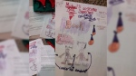 Canada Post is looking for Michael Johnson, who mailed this letter and drawing to Santa without a return address.