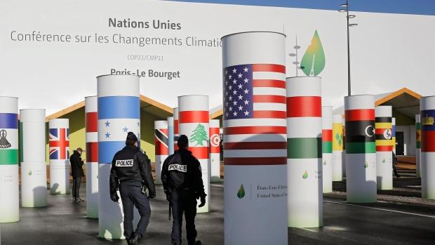 entrance to UN Paris climate talks