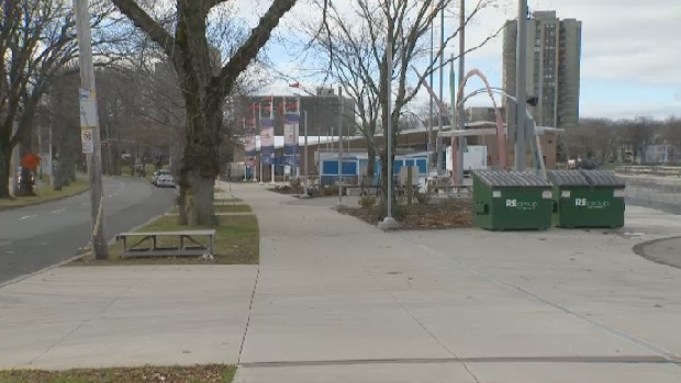 Halifax police say three people were swarmed early Sunday morning near the Halifax Oval.