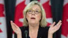 Green Leader Elizabeth May speaks about the upcoming Paris climate conference during a briefing, Thursday, November 19, 2015 in Ottawa. THE CANADIAN PRESS/Adrian Wyld