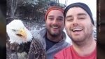 CTV News Channel: Brothers free eagle, take selfie