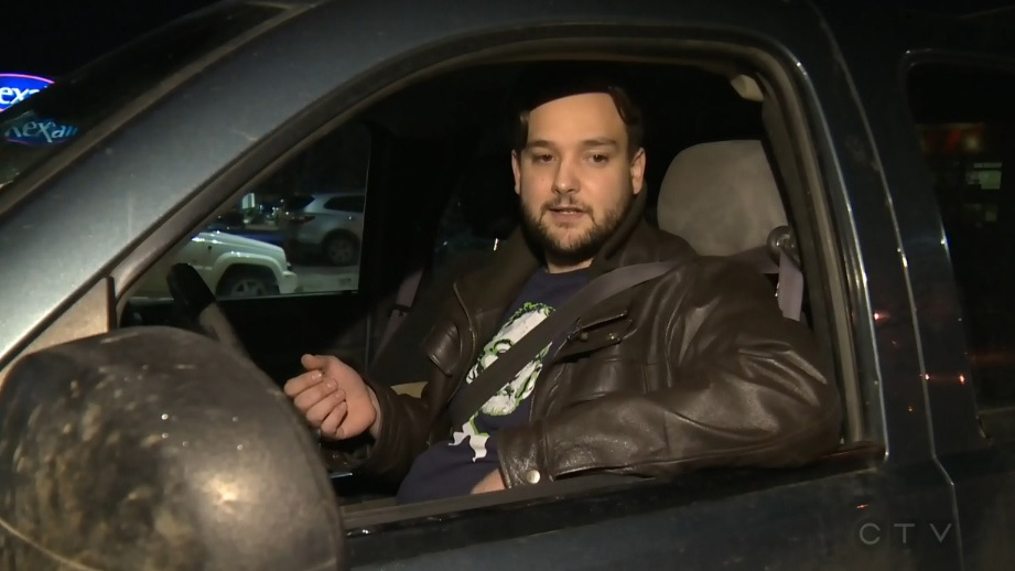A.J. Daoust says after he replied to a text message while waiting for his coffee at a Beaumont, Alta., Tim Hortons last week, a police officer knocked on his window, asked him to pull over, and gave him a $287 ticket for distracted driving.