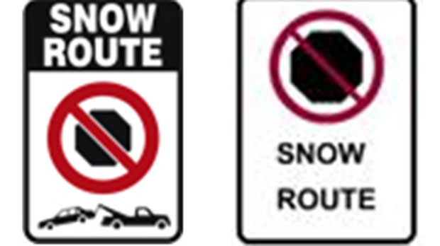 """""""No Parking"""" signs are posted when streets require snow removal."""