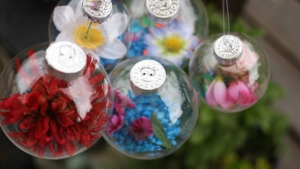 An example of flower drop garden ornaments. (Jackie Currie)