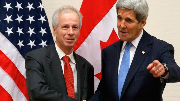 Foreign Minister Stephane Dion at NATO meetings