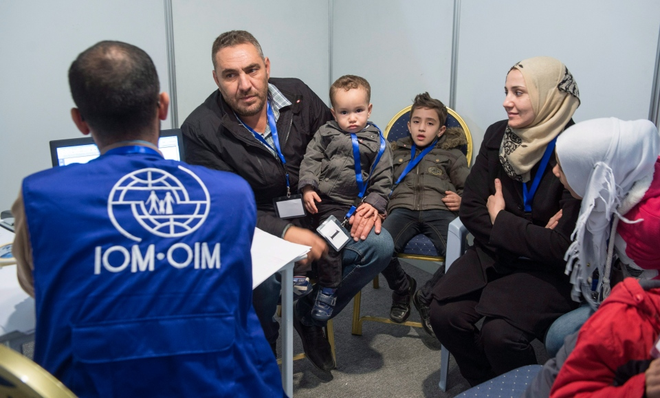 A family of Syrian refugees are being interviewed by authorities in hope of being approved for passage to Canada at a refugee processing centre in Amman, Jordan, on Sunday, Nov. 29, 2015. (THE CANADIAN PRESS / Paul Chiasson)