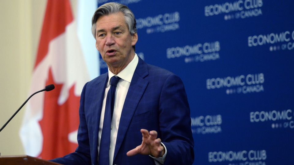 Canada's Ambassador to the U.S. Gary Doer speaks to the Economic Club of Canada in Ottawa on Wednesday, Dec. 2, 2015. (THE CANADIAN PRESS/Sean Kilpatrick)