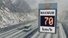 The Transportation Ministry is installing variable speed signs along sections of the Coquihalla, Trans-Canada and Sea-to-Sky highways in an effort to cut down on weather-related crashes. (Submitted)
