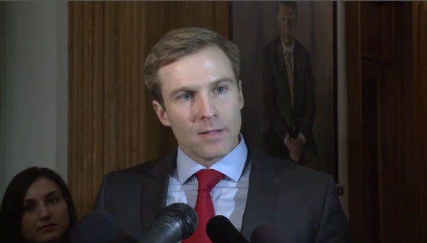 New Brunswick Premier Brian Gallant takes questions from the media on Wednesday, Dec. 2, 2015.