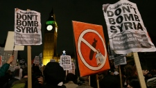 Protests against British airstrikes in Syria
