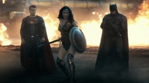Superman (Henry Cavill), Wonder Woman (Gal Gadot) and Batman (Ben Affleck) appear in this still image from the trailer for 'Batman v Superman: Dawn of Justice.' (YouTube / Warner Bros)
