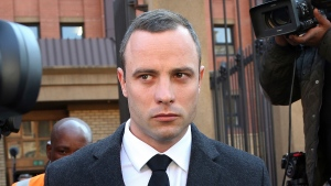 In this Tuesday May, 20, 2014 photo Oscar Pistorius outside the iIgh Court in Pretoria, South Africa. (AP / Themba Hadebe)